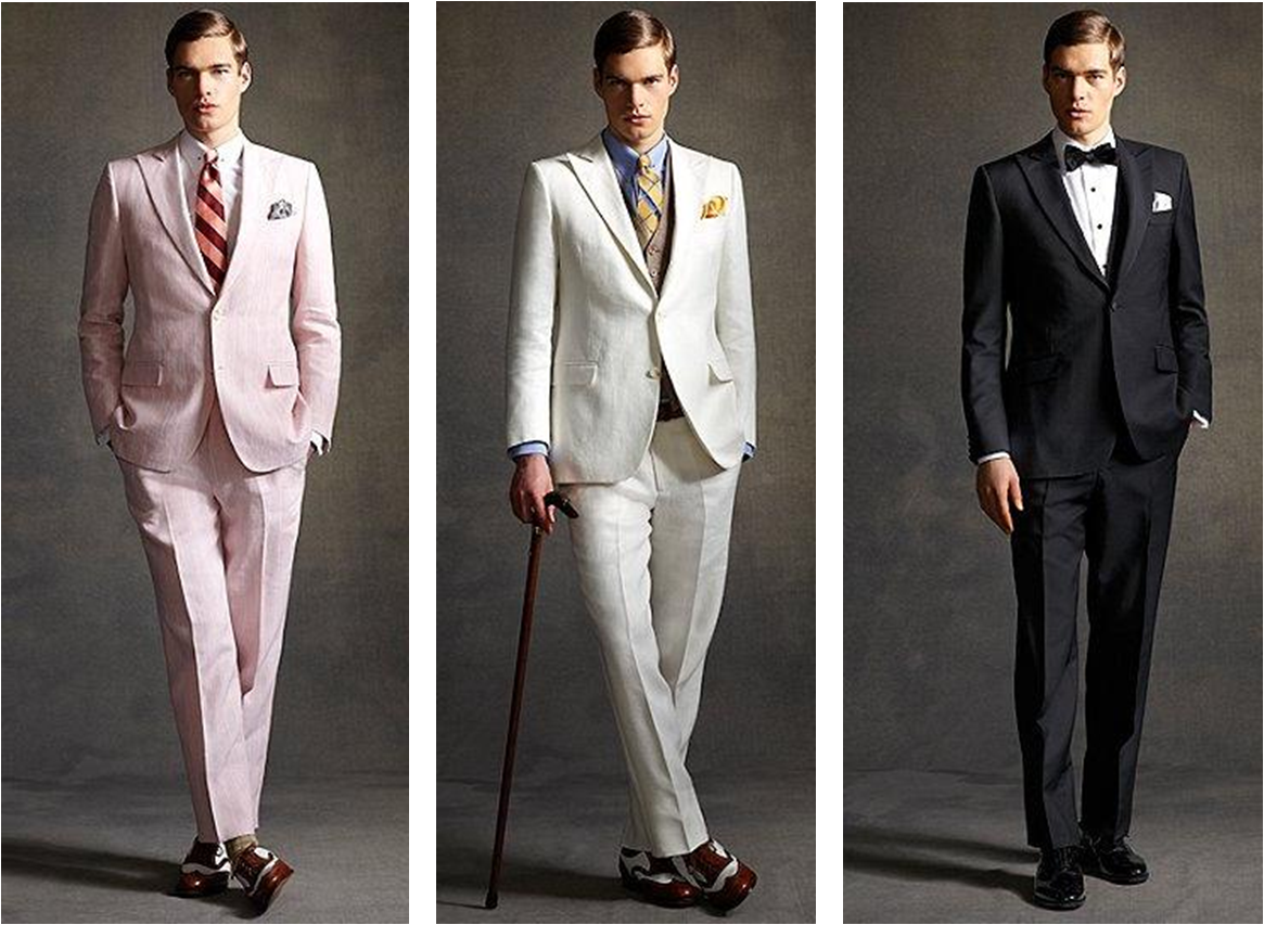the great gatsby wedding styles for grooms and groomsmen