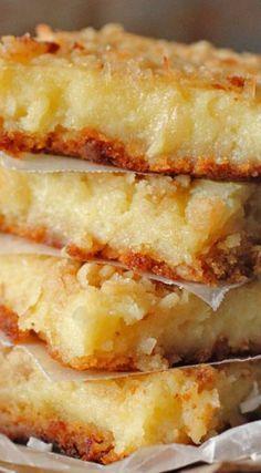 Lemon Coconut Gooey Butter Bars | Brown Sugar Food Blog
