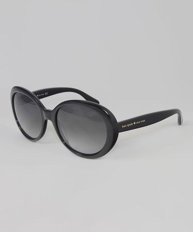 Another great find on #zulily! Black Nerissa Sunglasses by Kate Spade #zulilyfinds