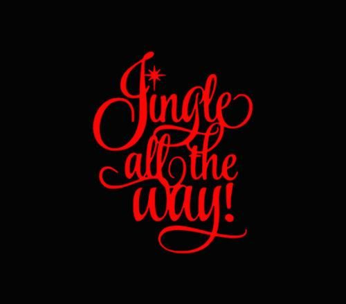 Jingle All The Way Christmas Xmas Car Window Vinyl Decal Ornament - Transfer tape for vinyl decals