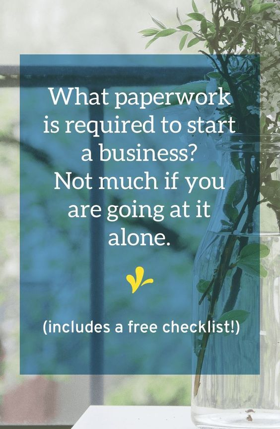 Paperwork Required To Start A New Business Plus A Free Checklist