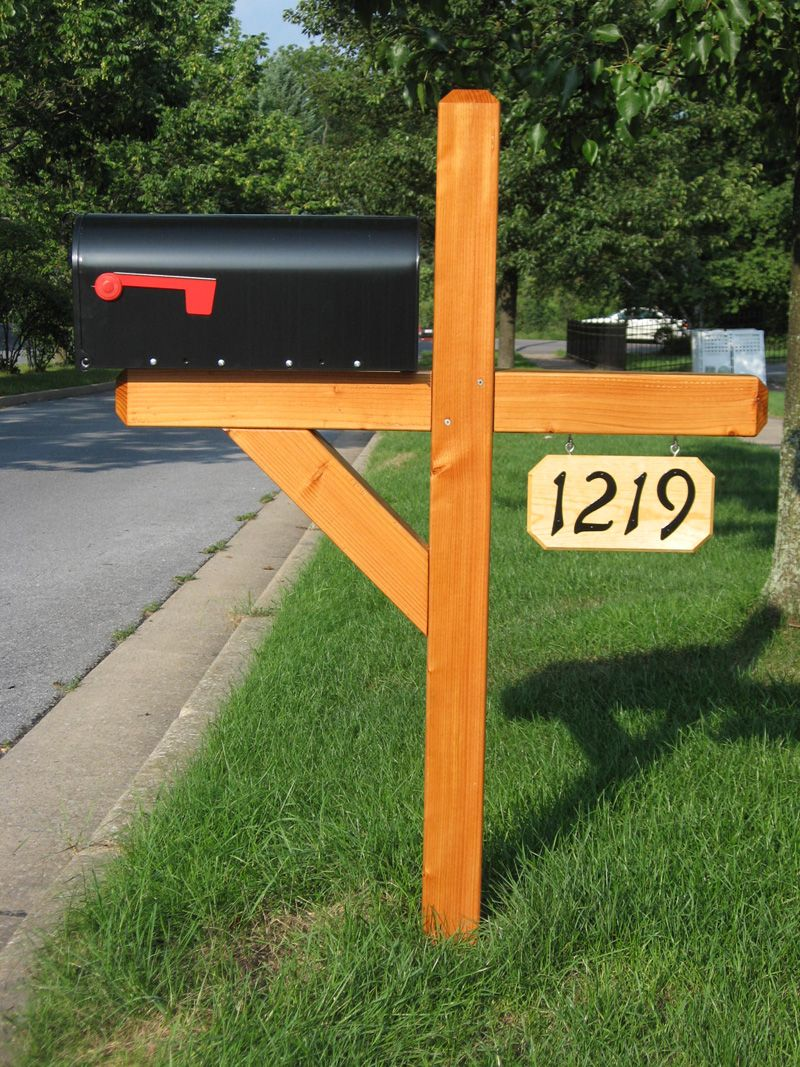 Residential Mailbo And Wooden Posts Custom Mail Bo Decorative Mailbox
