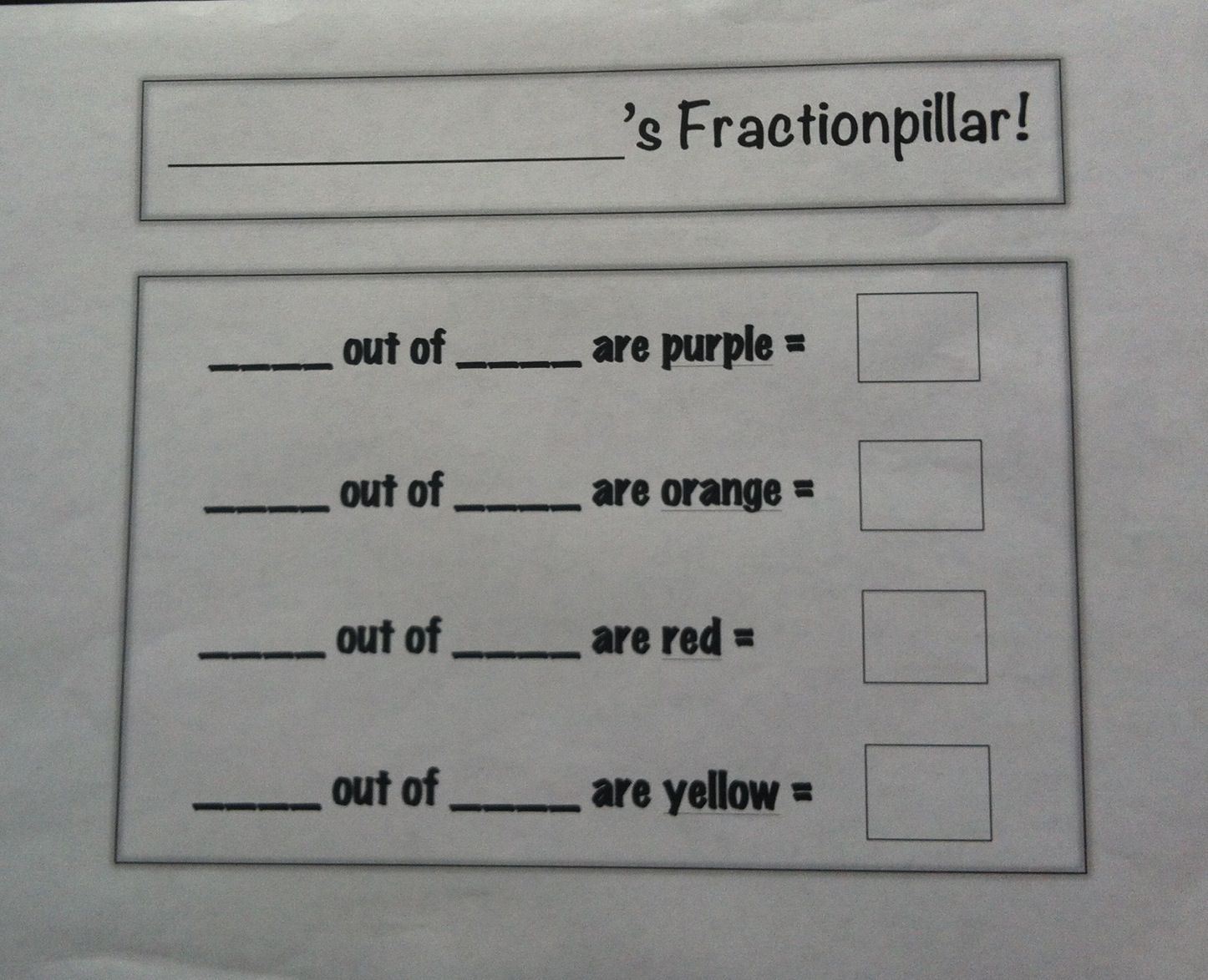 Fractionpillar Worksheet