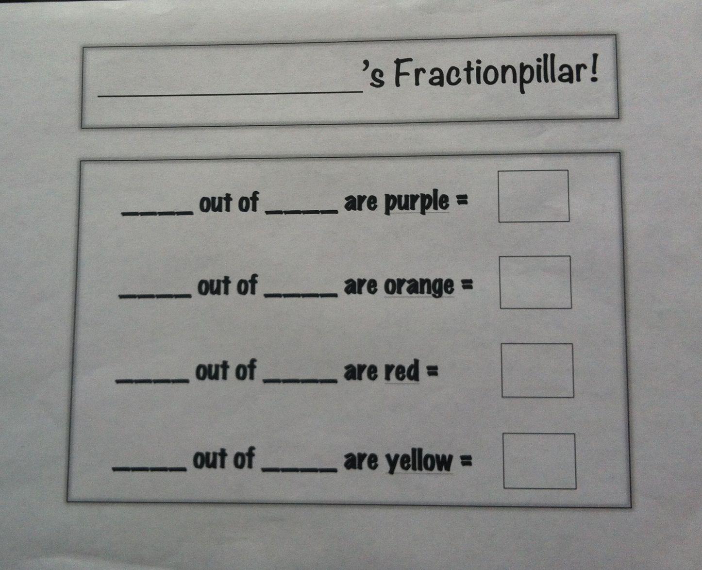 Fractionpillar Worksheet