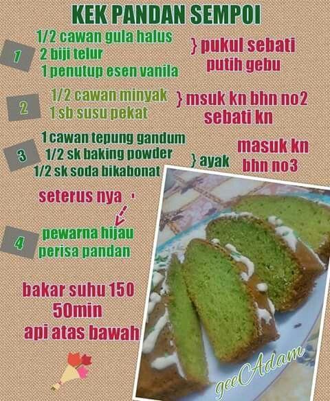 Hidangan Resepi Kek Vanila Bakar Sukatan Cawan Foody Bloggers
