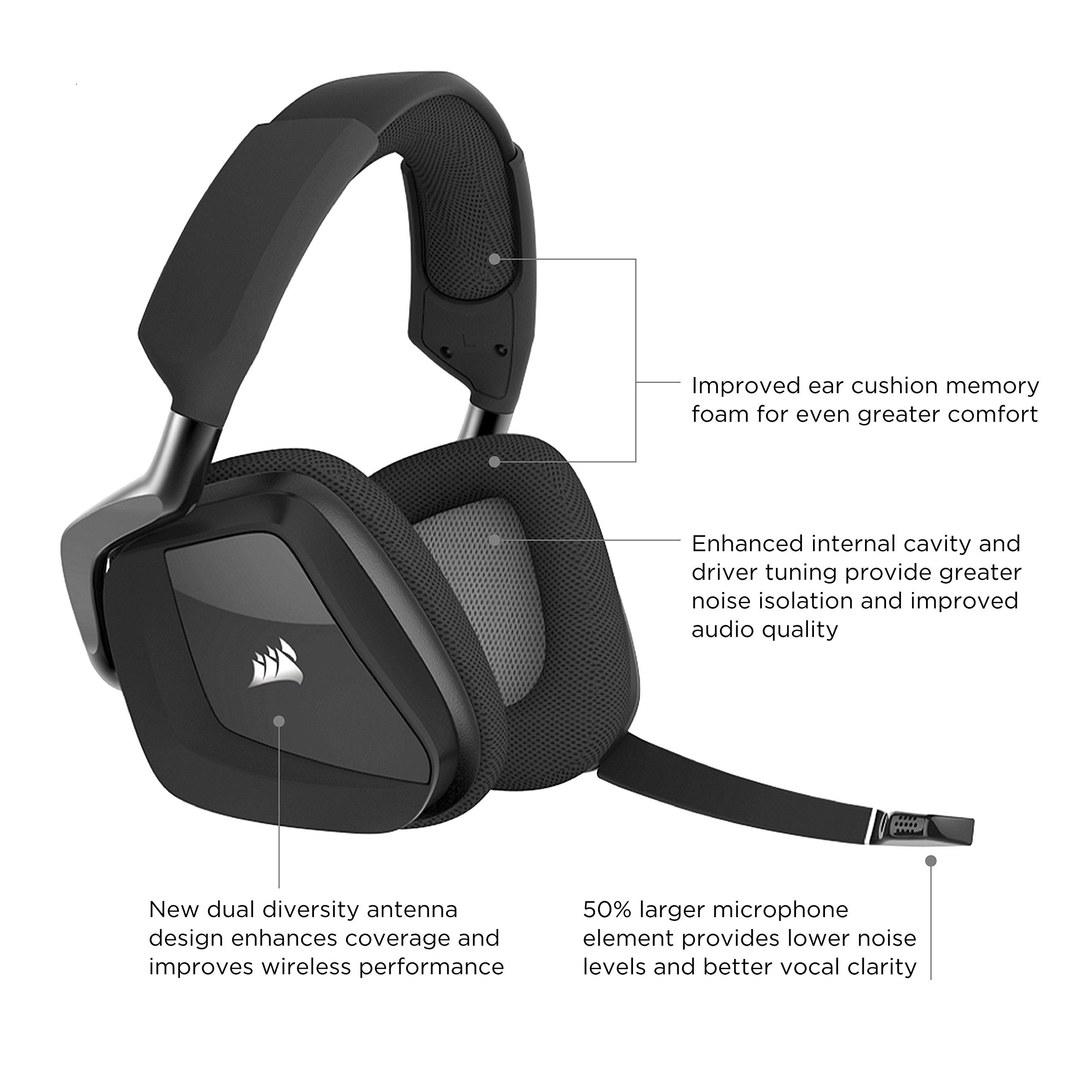 CORSAIR VOID PRO RGB Wireless Gaming Headset Dolby 7.1 Surround Sound