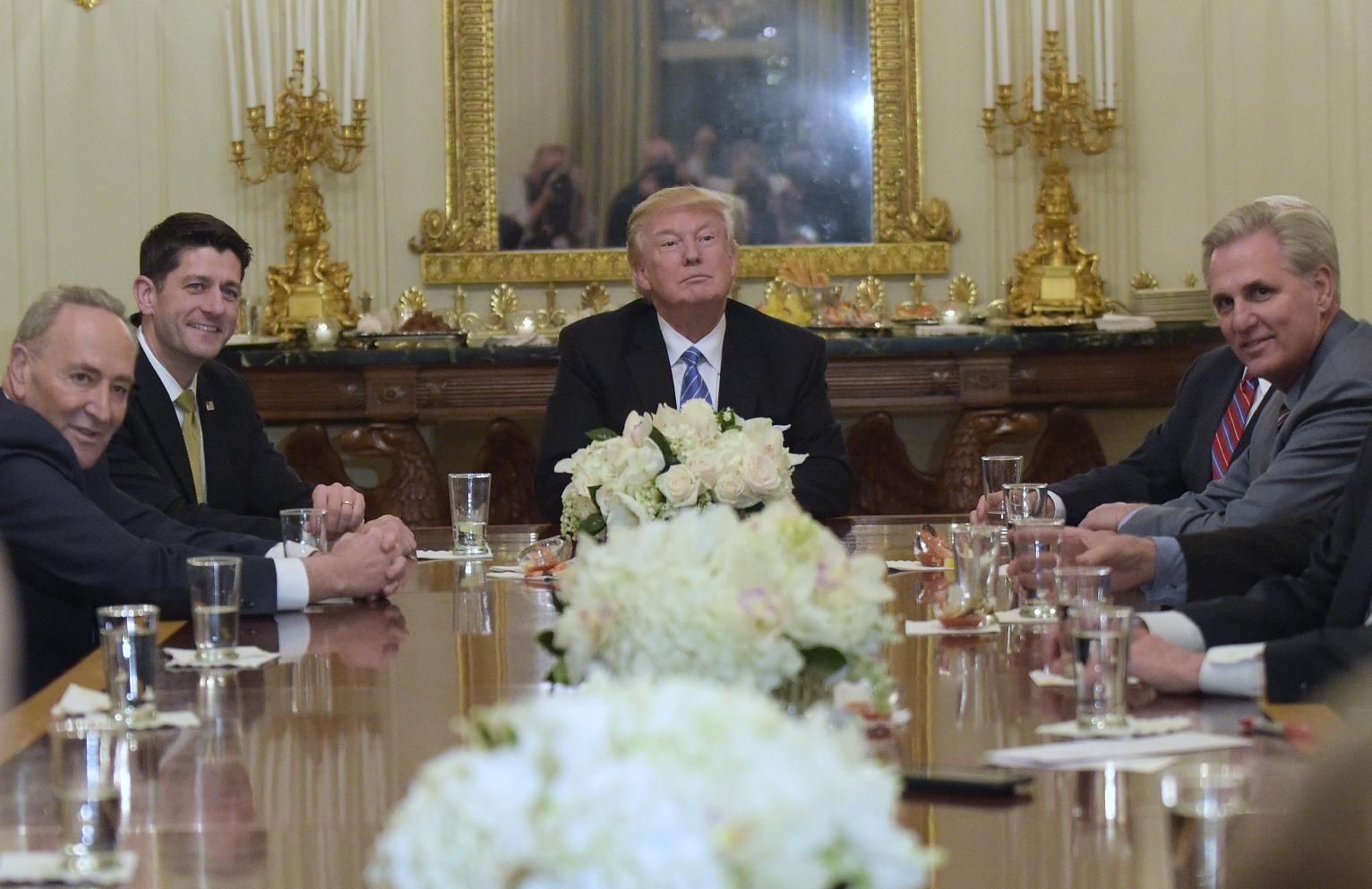 WASHINGTON (AP) — President Donald Trump asserted in a private meeting with congressional leaders Monday night that he would have won the popular vote in the 2016 election if 3 million to 5 million immigrants living in the country illegally hadn't voted.