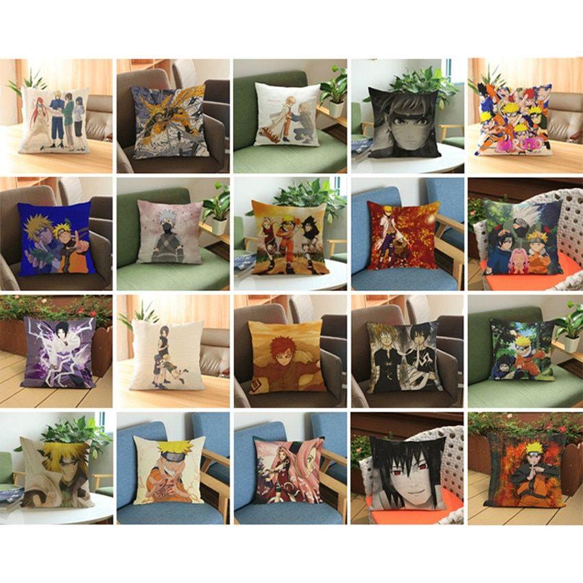 Anime manga naruto throw pillow case 4545cm pillow case