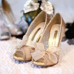 Online Shop Size 34-42 Gold Silver Peep Toe Ribbon Bow Thin Heel Platform Lace Glitter Women's Wedding Pumps Bridal High Heel Shoes|Aliexpress Mobile