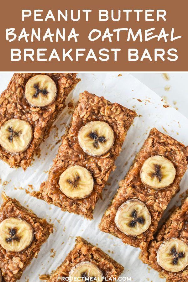 Photo of Peanut Butter Banana Oatmeal Breakfast Bars