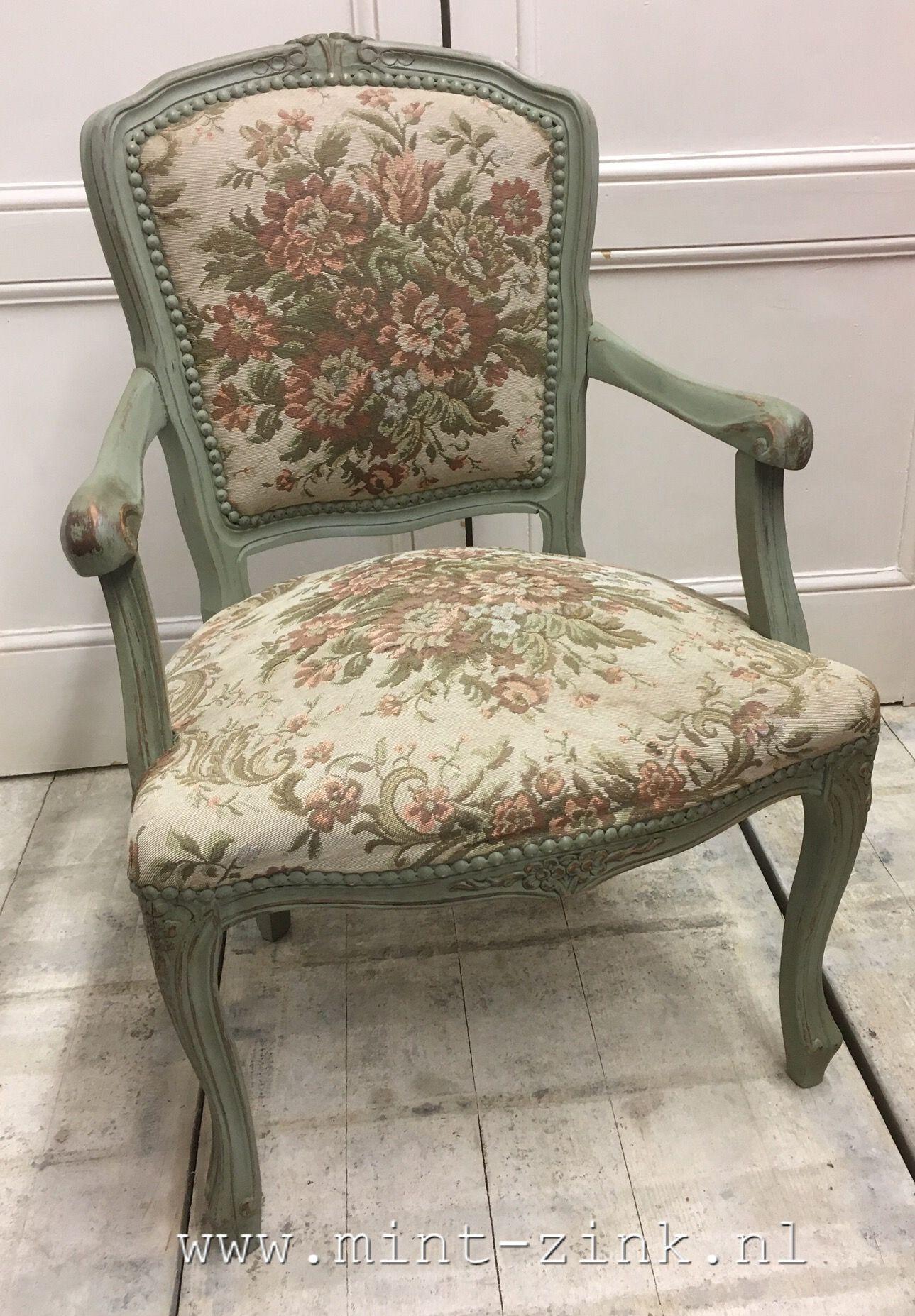 Cheap oude barok stoel met bloemstof in queen ann stijl for Barok eetstoelen