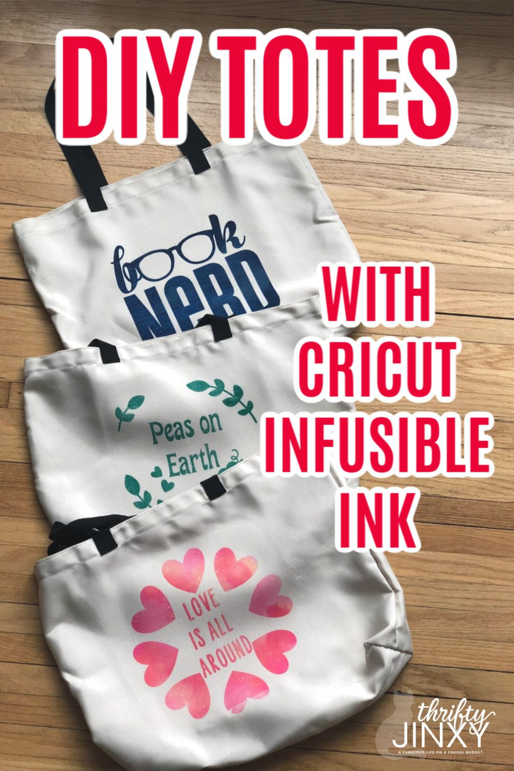 Diy totes with cricut infusible ink infusible ink tote