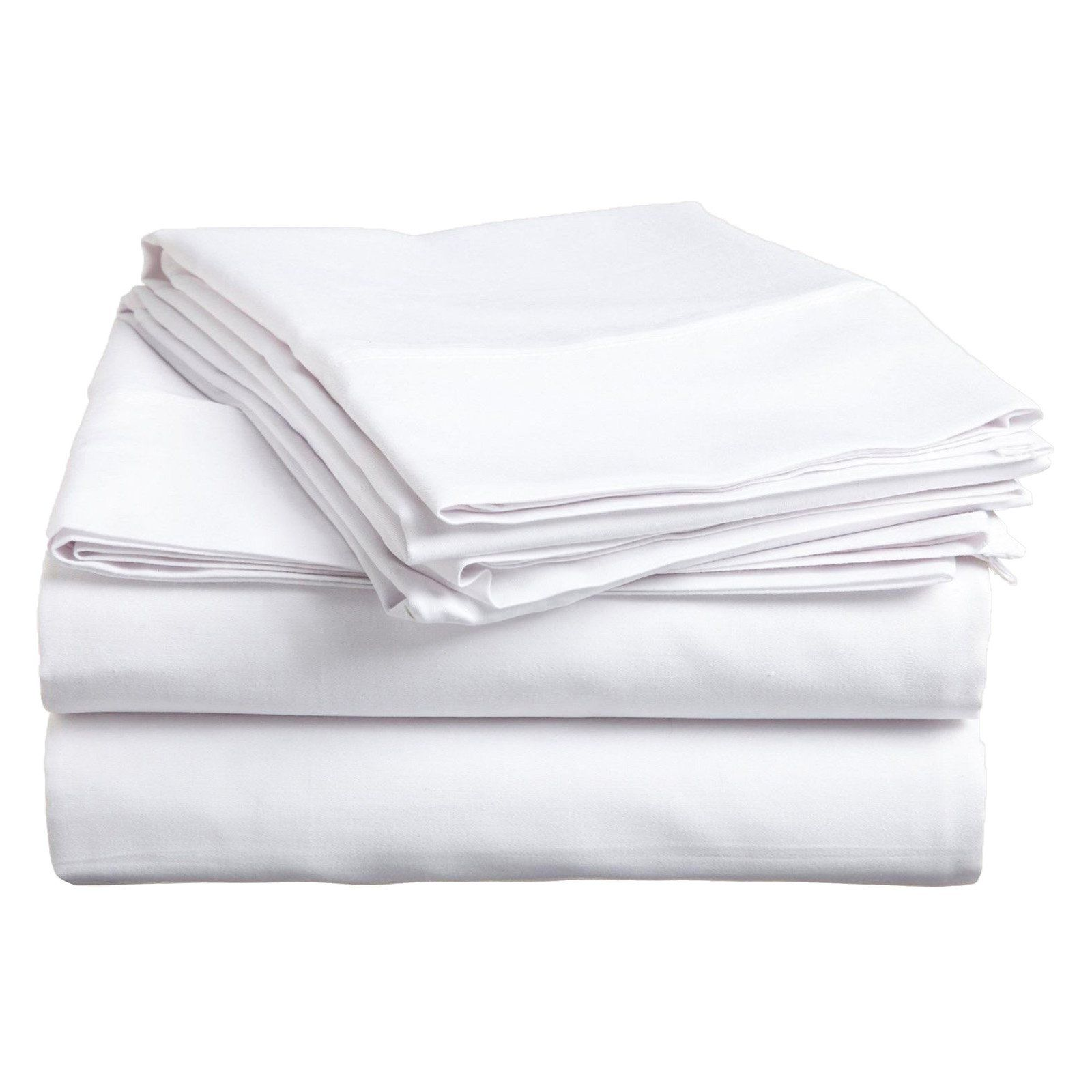 Superior 300 Thread Count Long Staple Combed Cotton Solid Sheet Set White