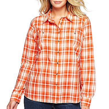 jcp™ Long-Sleeve Voile Shirt - $27 jcpenney