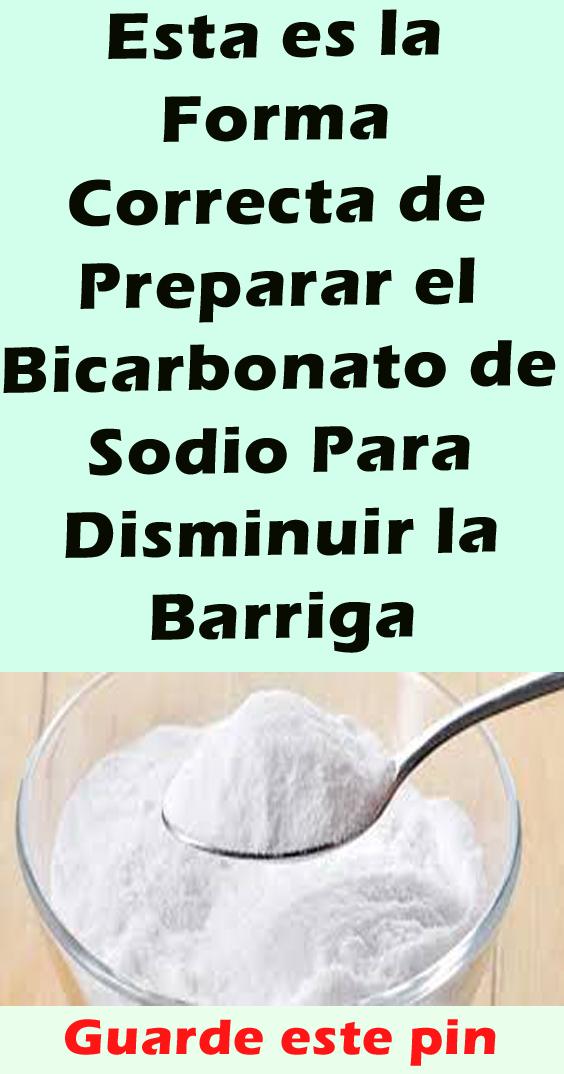 Esta Es La Forma Correcta De Preparar El Bicarbonato De Sodio Para Disminuir La Barriga Bicarbonato De Sodio Remedios Naturales Bebida Para Quemar Grasa
