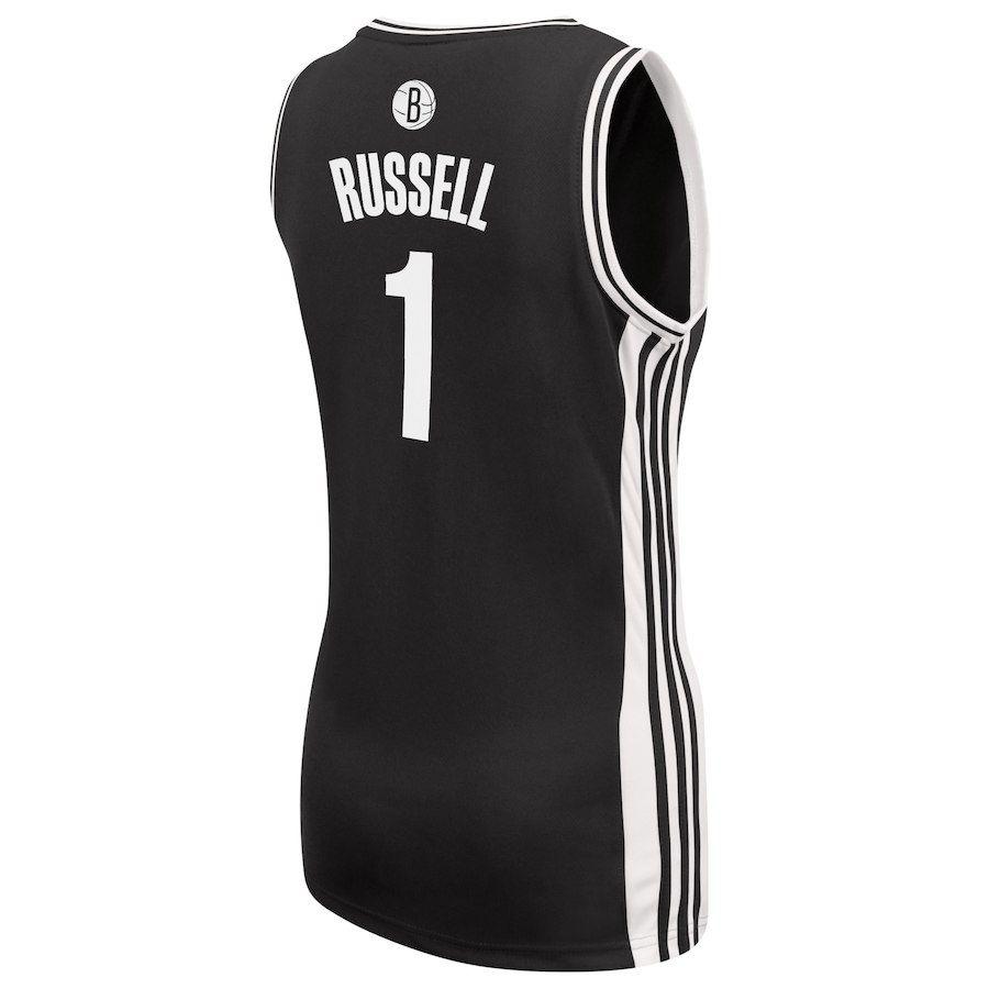 abf5ce86726 Women's Brooklyn Nets D'Angelo Russell adidas Black Road Replica Jersey  #Angelo#Russell