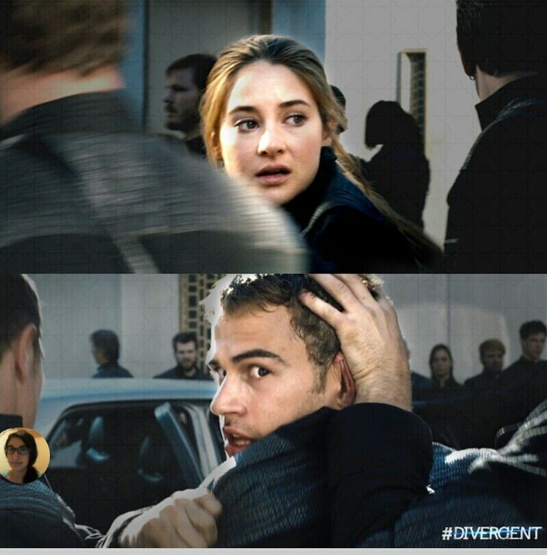 Divergent movie! !! This scene is soo sad and sweet!!!
