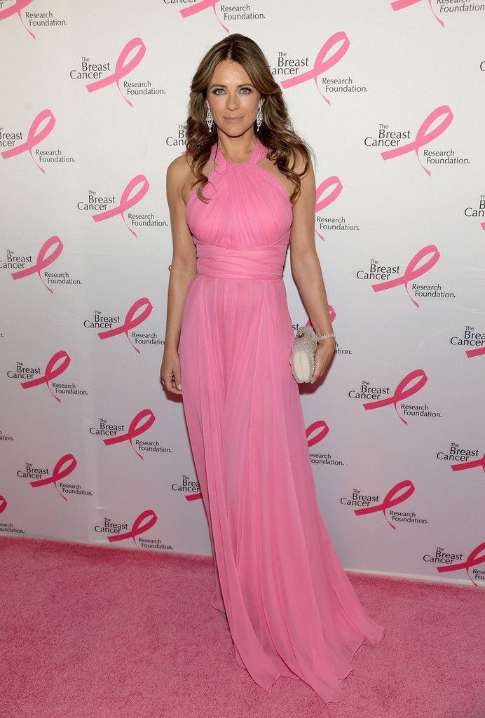 Elizabeth Hurley in Versace paired with Chopard jewels attends The ...