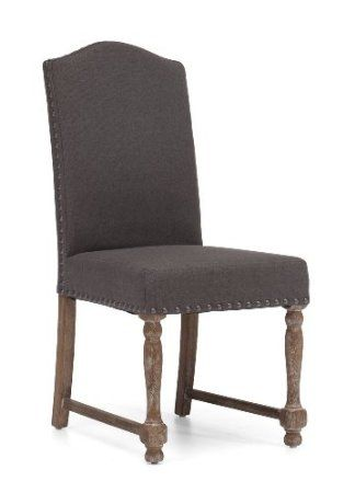 Amazon Com Studded Modern French Dining Chair In Grey Set Of 2