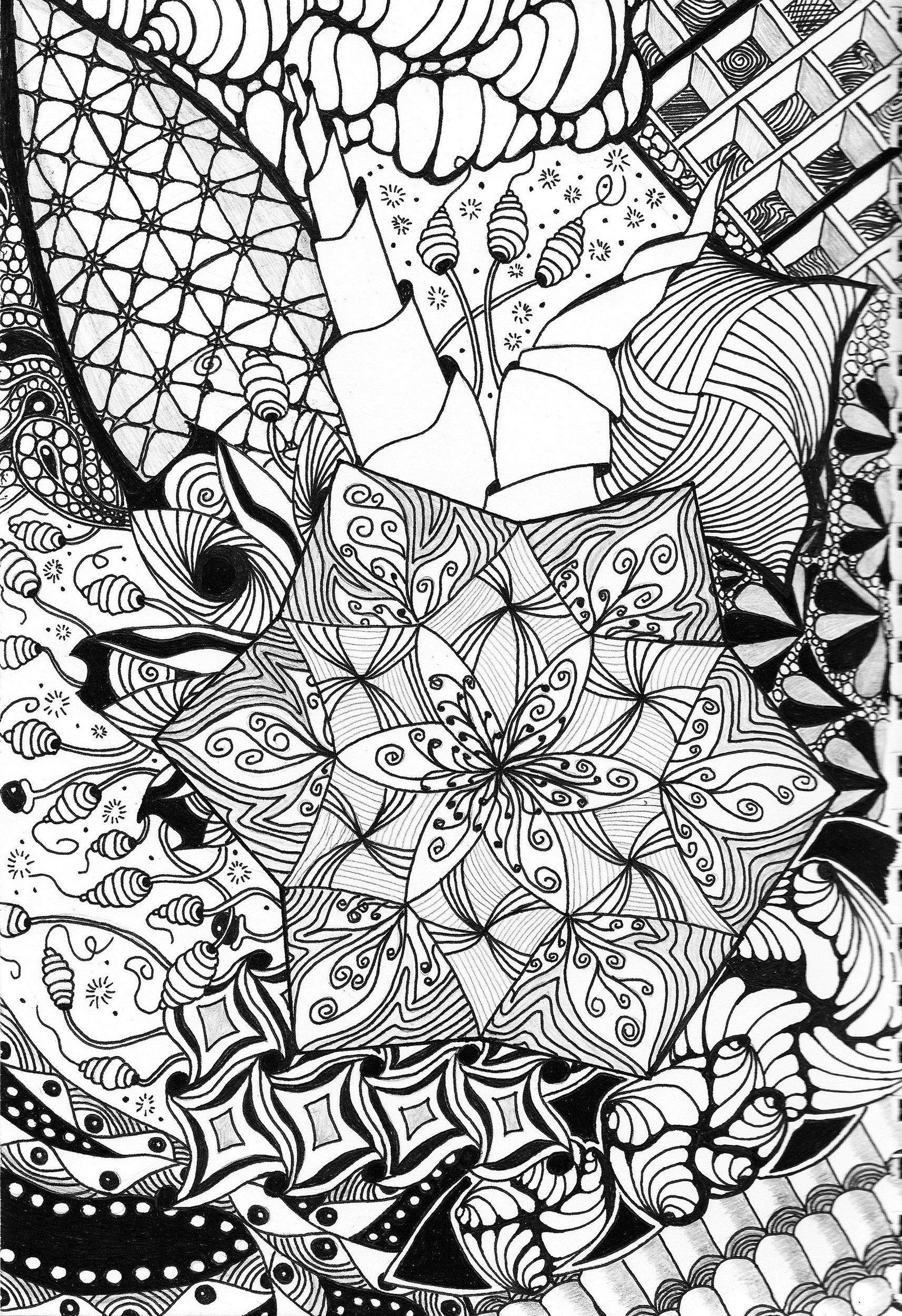 Zentangle made by myself.