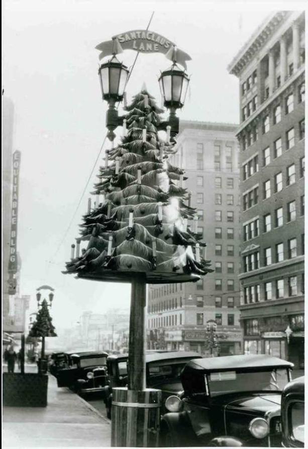 Santa Claus Lane, Hollywood Boulevard, 1930s Vintage