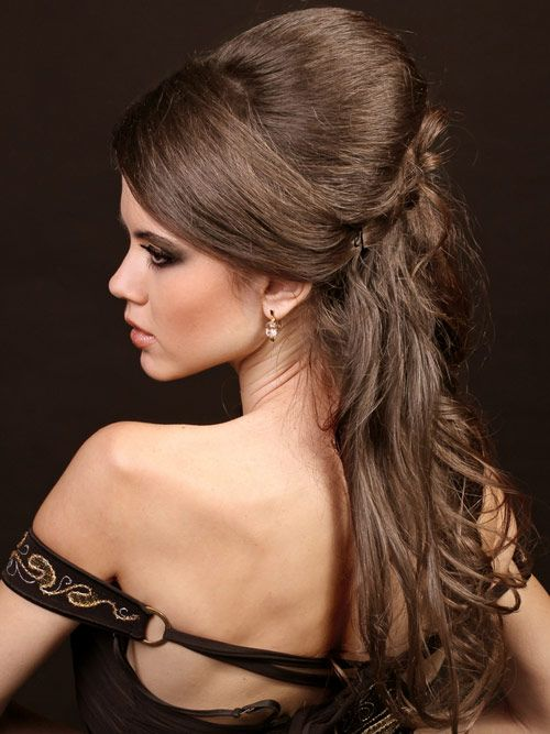 Wedding Hairstyles For Long Curly Hair Updos : Retro inspired wedding half updos google search hair & nails