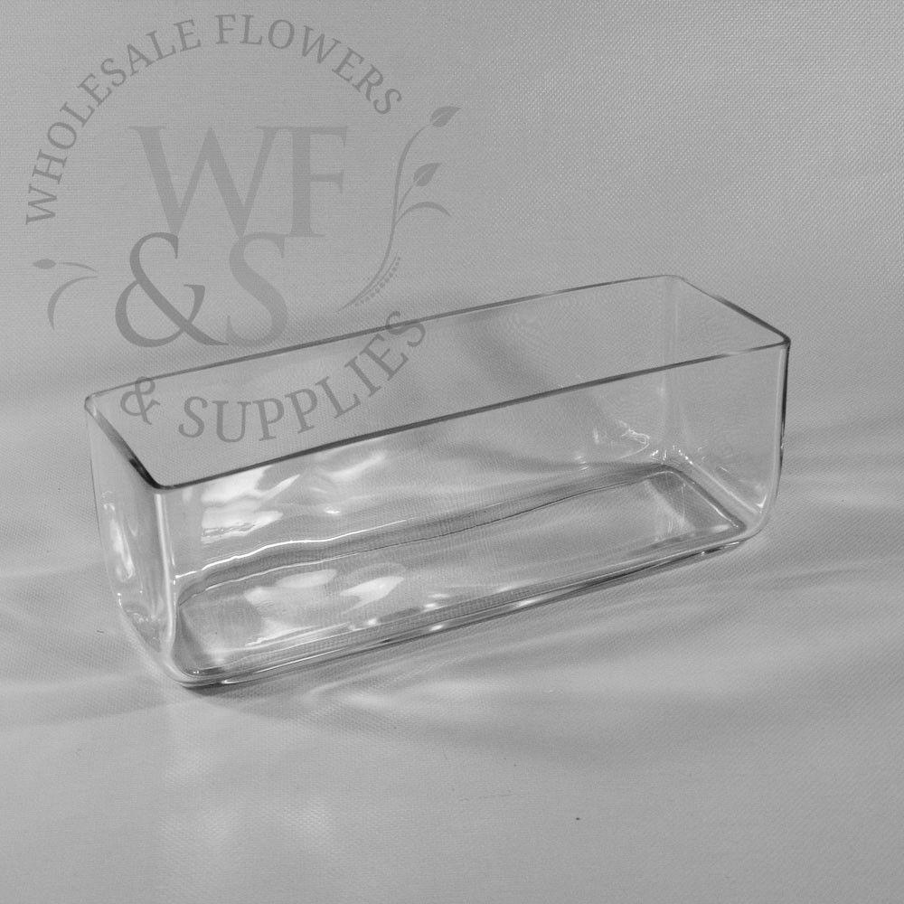 Rectangle glass vase 12x 4x 4 wholesaleflowersandsupplies square glass vases cheap square glass vases discount square glass wholesale flowers and supplies reviewsmspy