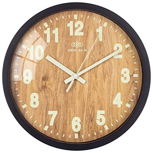 12 Inch Quartz Wall Clock Glow In The Dark Luminous Number Night Light Classical