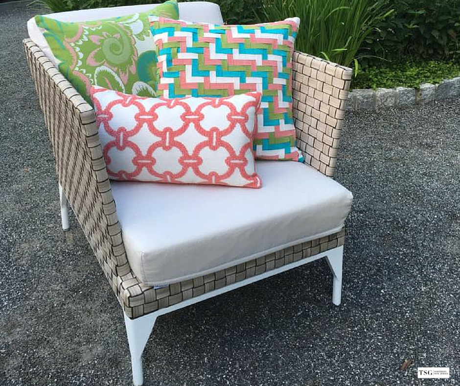 Make A Splash With These Elaine Smith Outdoor Pillows In Plush Chenilles  And Bright Patterns U2013
