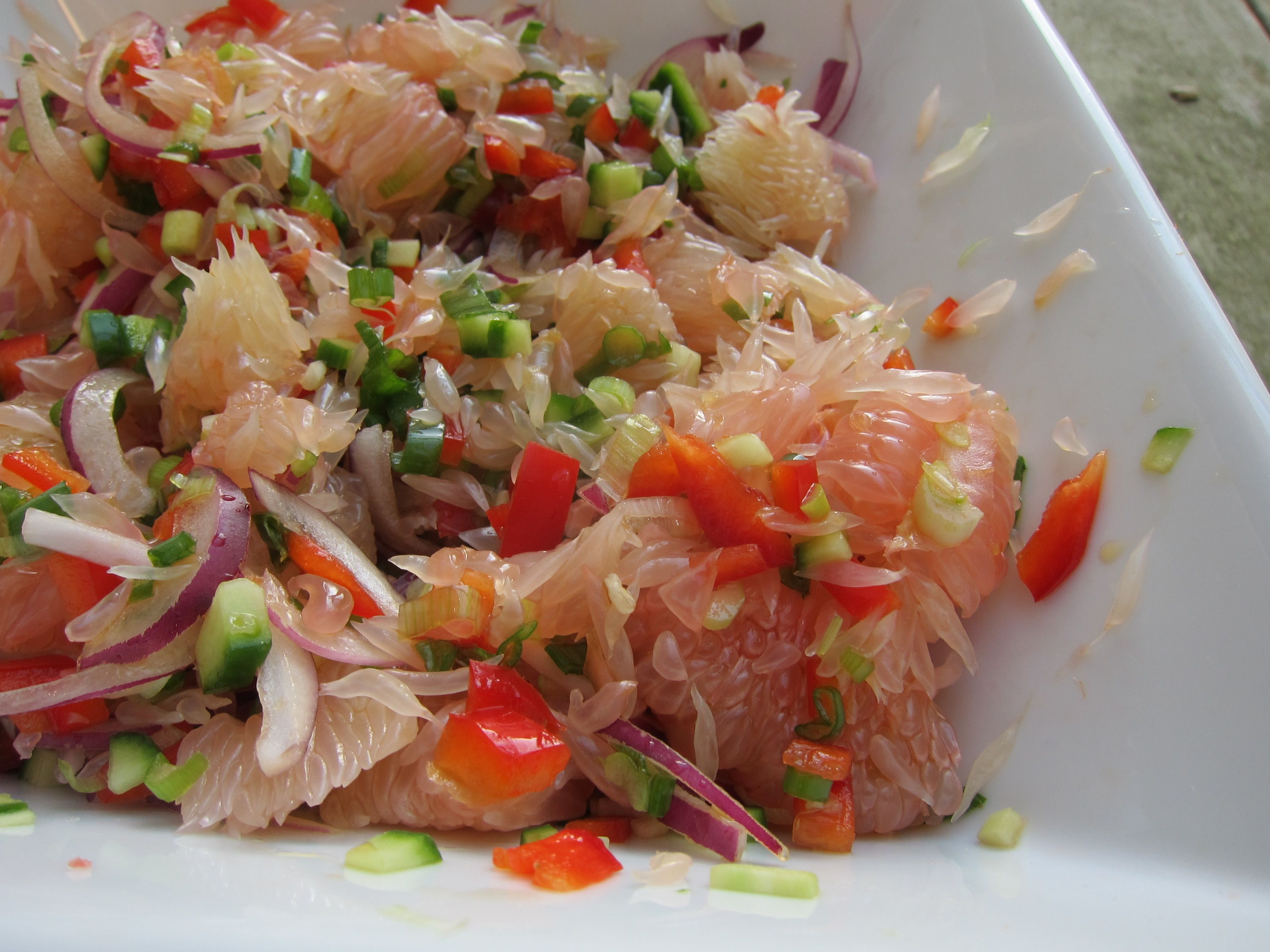 Easy Pomelo Salad  Recipes To Cook  Pomelo Salad, Salad -6202