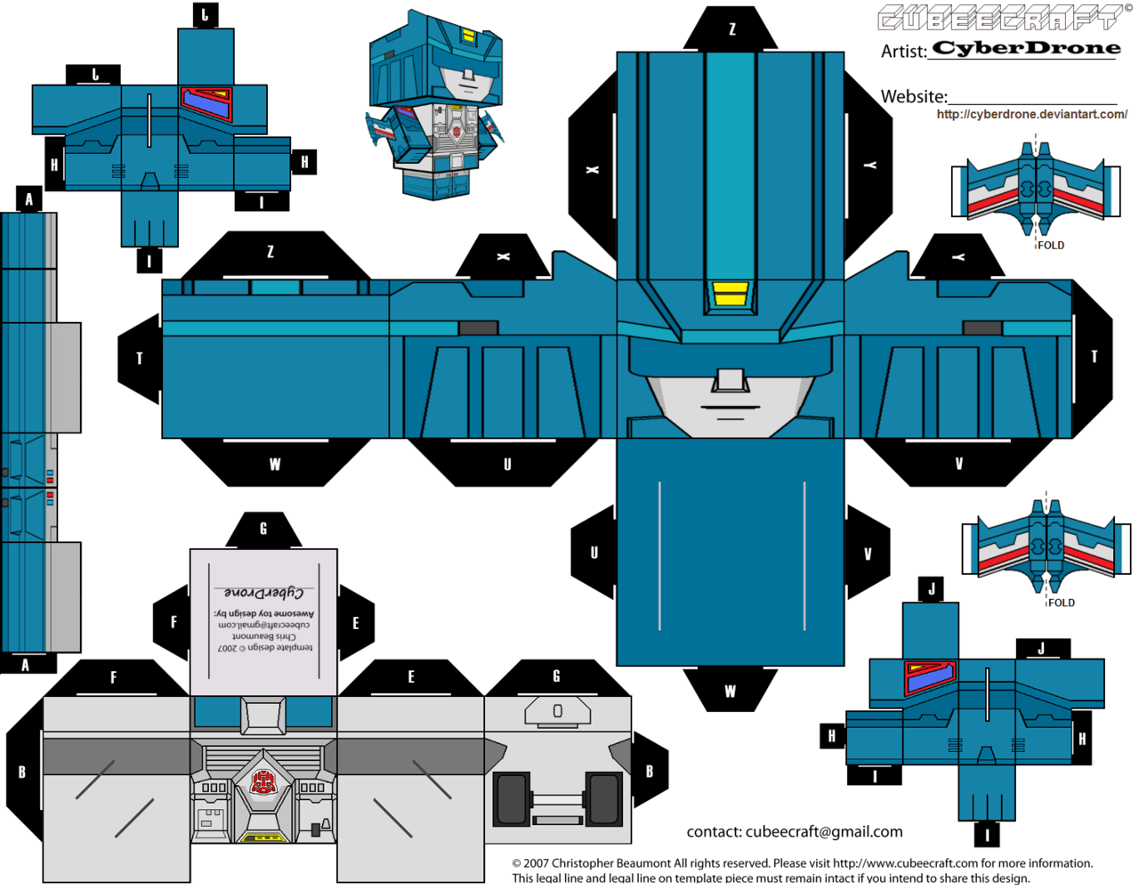 Cut and paste crafts geekvariety oh snap some transformers custom transformers cut out templates of paper toys ive made all my transformers cubeecraft fan art designs are based on characters originally from hasbro pronofoot35fo Choice Image