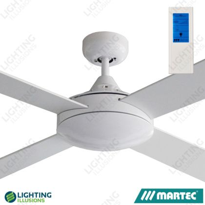 White martec primo 48 ceiling fan no light with touch remote white martec primo 48 ceiling fan no light with touch remote shop aloadofball Choice Image
