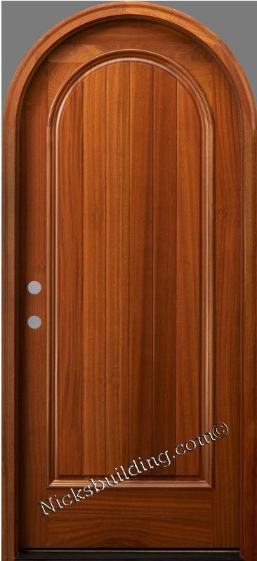 Round Top Door Entrancedoor Rounddoor Wooddoor Door From Nicksbuilding Com The Rt 1p Mahogany Doors Wood Doors Interior Wooden Door Design
