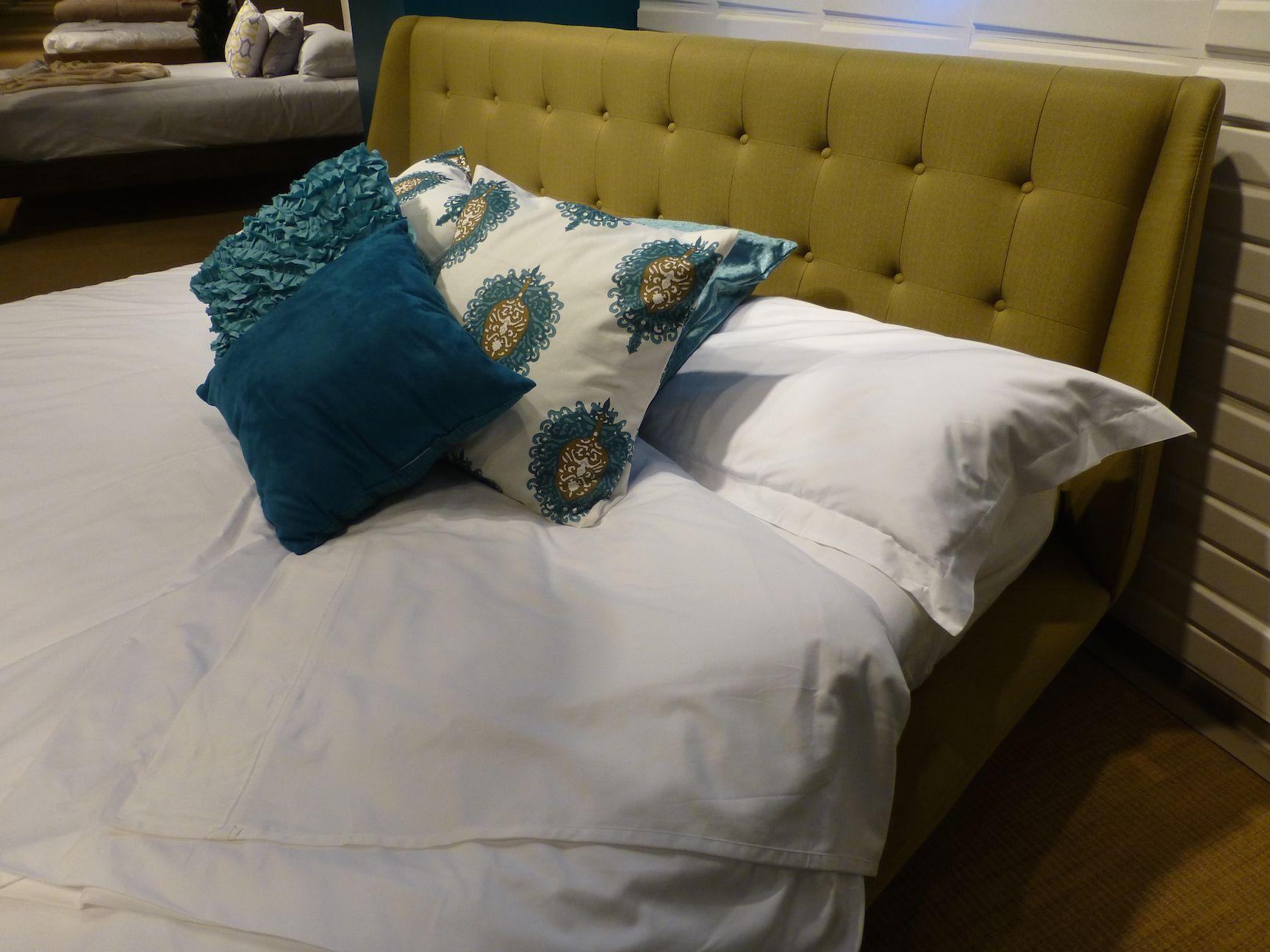 Leggett & Platt Consumer Products Group upholstered platform bed pays tribute to mid-20th century modern design