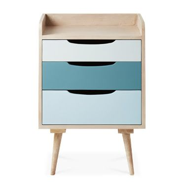 Best The Randall Bedside Chest Of Drawers In Lacquered Blue By 400 x 300