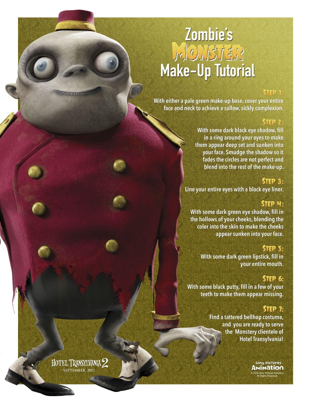 Hotel Transylvania 2 Zombie Monster Makeup Babies