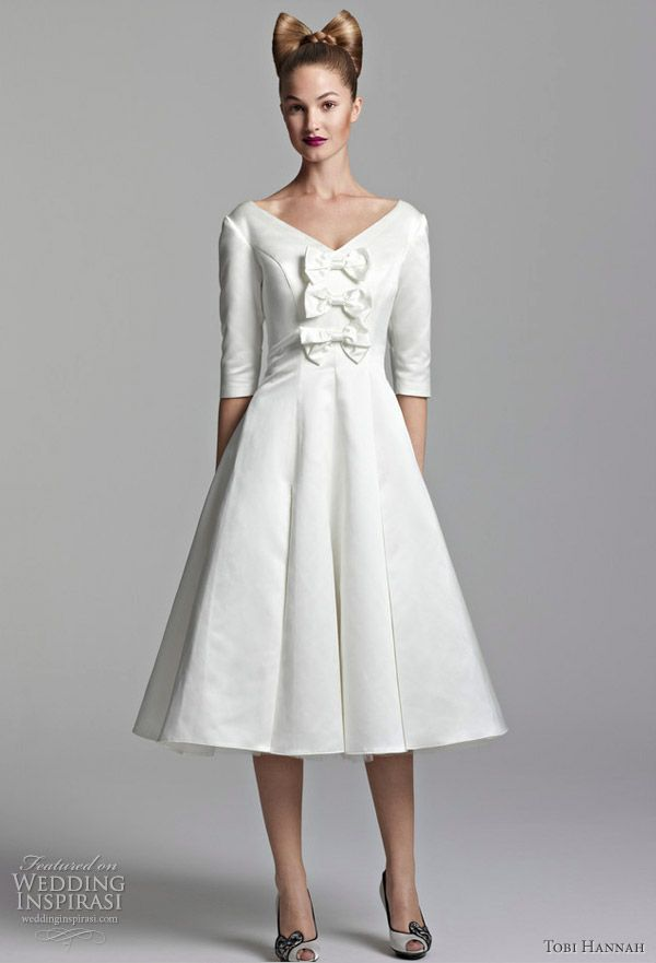 947f6e9dccd Tobi Hannah Short Wedding Dresses — Spring 2012 Youthquake Bridal  Collection in 2019