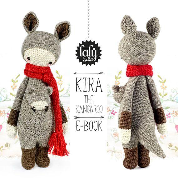 KIRA the kangaroo • lalylala crochet pattern / amigurumi | Patrones ...