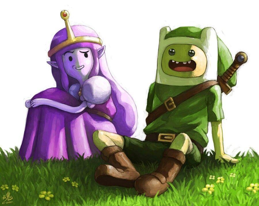 Finn Link/ Princess Zelda Bubblegum