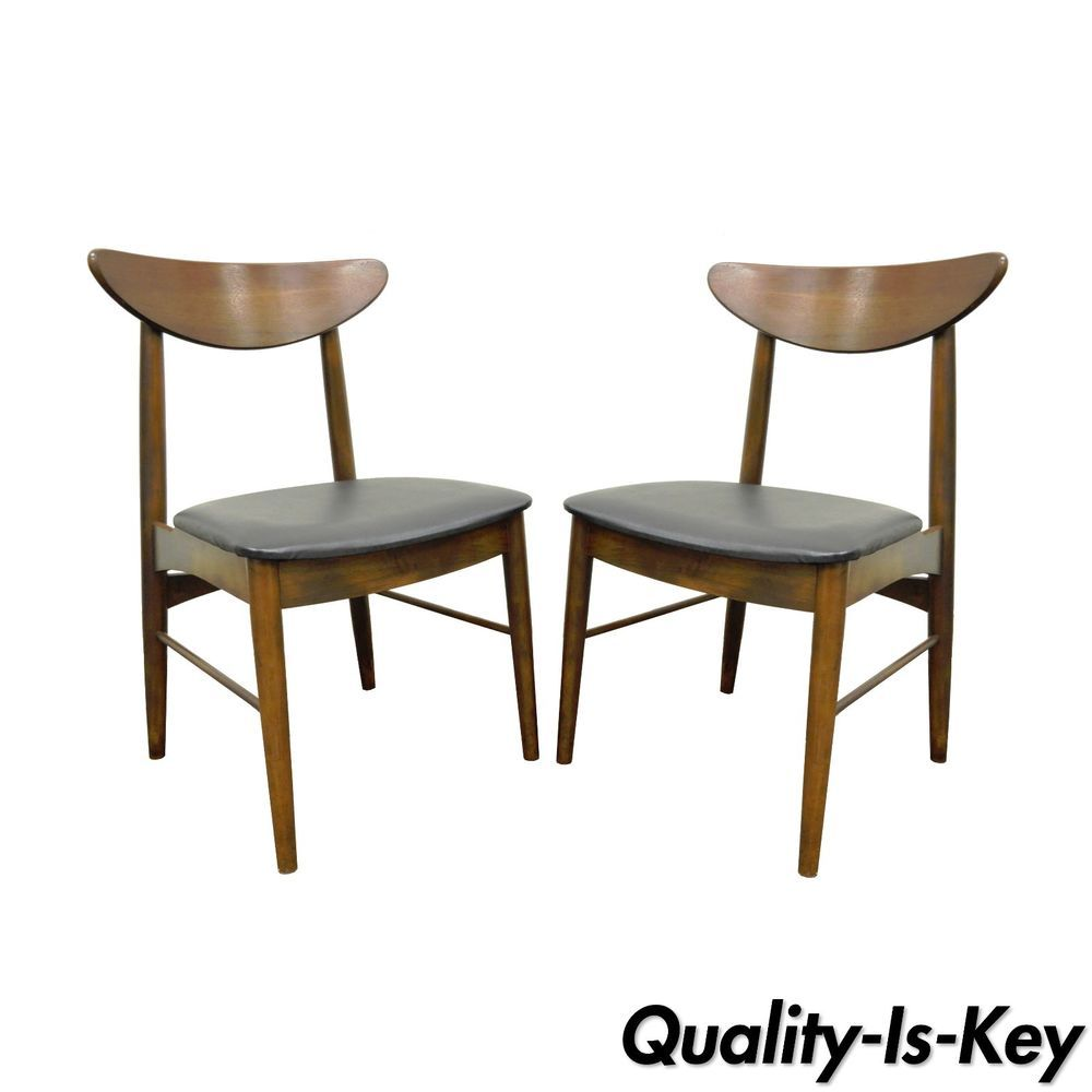 Superb Pair Of Vintage Stanley Mid Century Danish Modern Curved Ncnpc Chair Design For Home Ncnpcorg