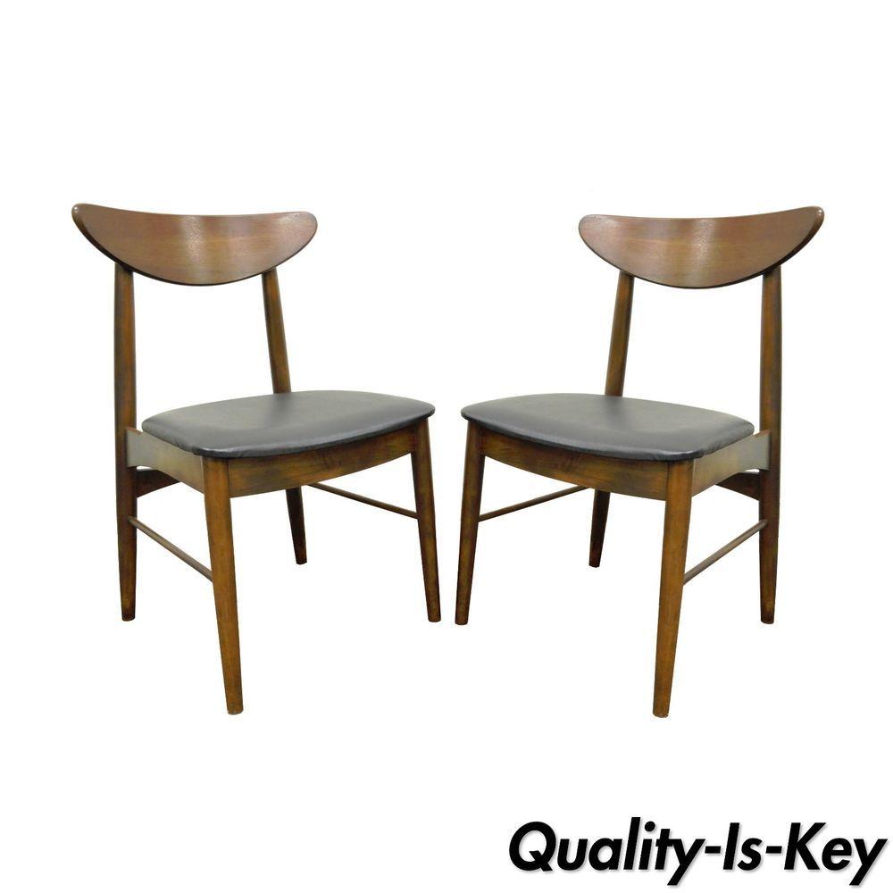 Marvelous Pair Of Vintage Stanley Mid Century Danish Modern Curved Uwap Interior Chair Design Uwaporg