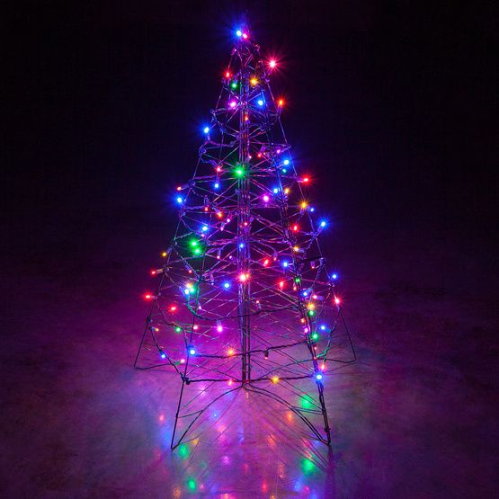 Outdoor christmas tree with vibrant multicolor led string lights a perfect accessory for outdoor christmas