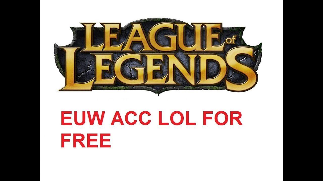 EUW ACC FREE + LOL ACC CHECKER 7.12