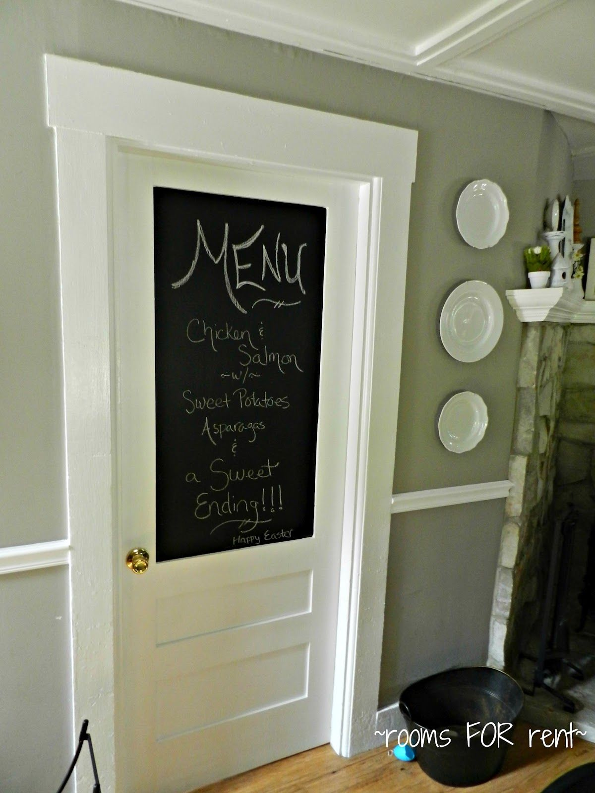 Rooms For Rent Touches Of Spring Chalkboard Door Reveal
