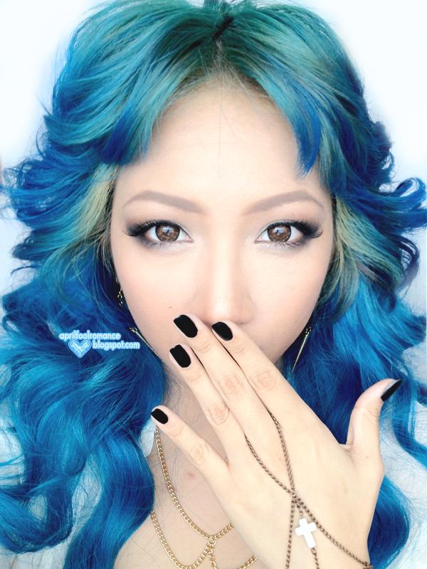 April Fool Romance Blue Hair Tutorial Ion Color Brilliance