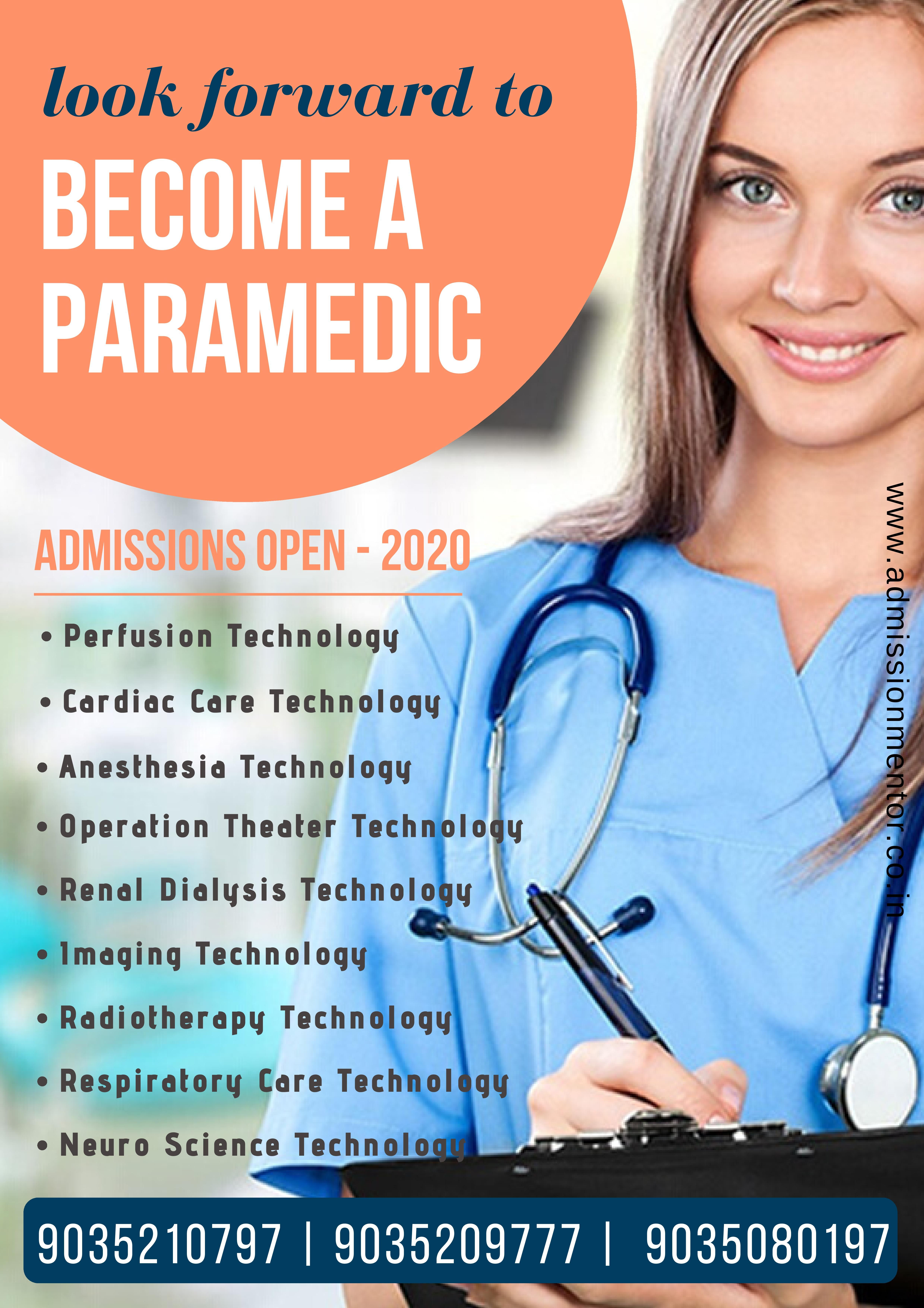 Paramedical Course Admissions Medical Imaging Technology Nuclear Medicine Technology Dialysis Therapy