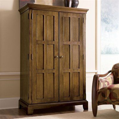 Riverside Furniture 69285 Woodlands Oak Computer Armoire   Home Furniture  Showroom