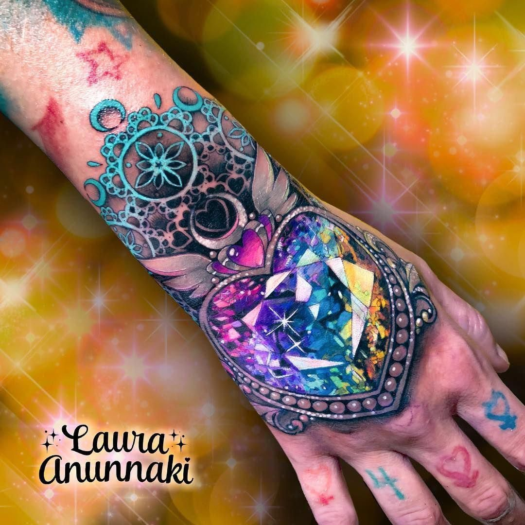 I Really Fancy The Colors And Shades Li Colors Fancy Shades In 2020 Gem Tattoo Jewel Tattoo Tattoos