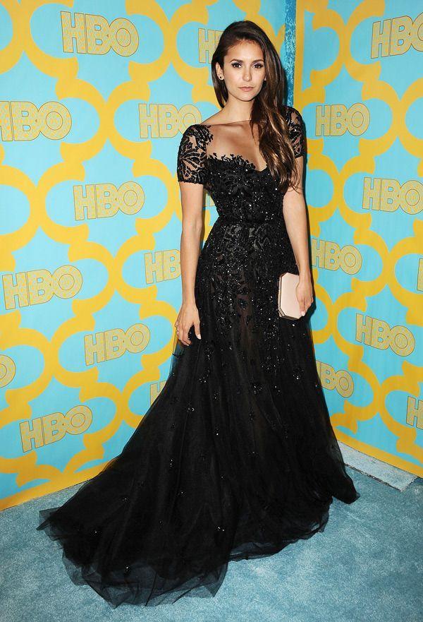 Actress Nina Dobrev attends HBO's post Golden Globe Awards party  hollywoodlife....  - gowns - #Actress #attends #Awards #Dobrev #Globe #Golden #gowns #HBOs #hollywoodlife #niña #party #post