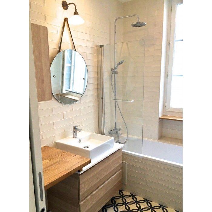 Couleurs  blanc / noir Format  7,5x30cm Épaisseur  0,8cm Finition - pose carrelage mural salle de bain